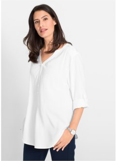 Viscose blouse met V-hals, lange mouw, bpc bonprix collection