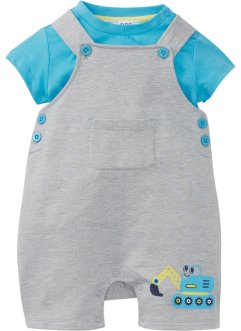 Baby T-shirt en tuinbroek van biologisch katoen (2-dlg. set), bpc bonprix collection