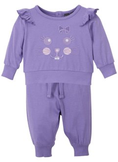Baby shirt en broek (2-dlg. set) biologisch katoen, bpc bonprix collection
