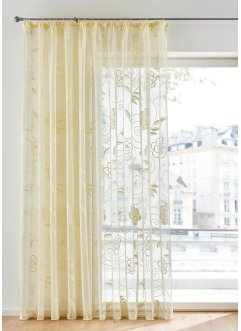 Transparant gordijn van jacquard met bloemen, bpc living bonprix collection