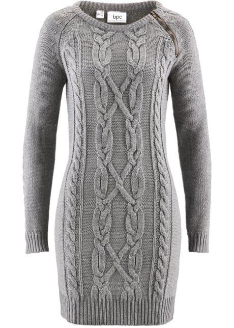 c4e77ec0dfbd20 Gebreide jurk grijs gemêleerd - Dames - bpc bonprix collection ...