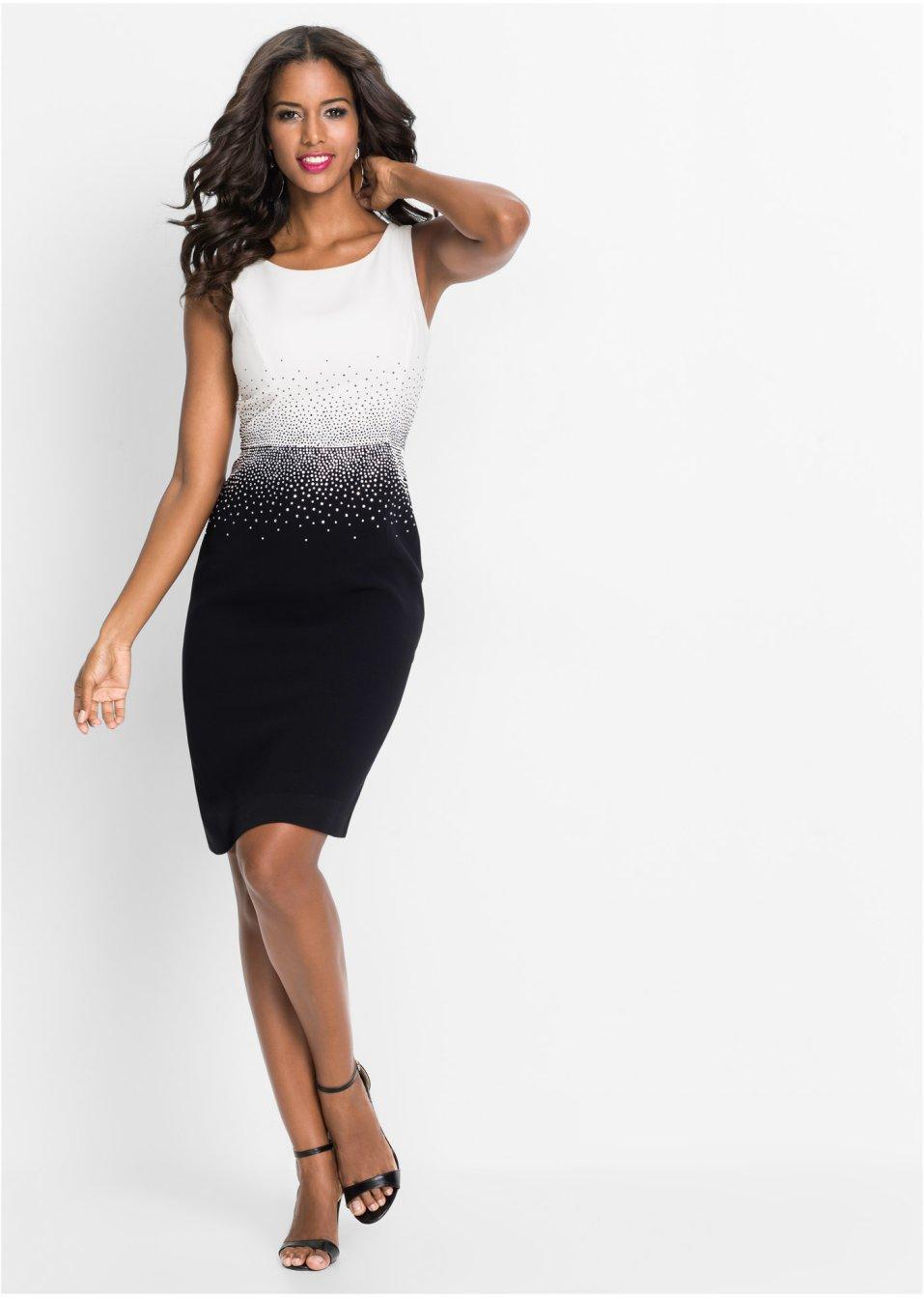 4815a22824a4ad Jurk zwart wit - Dames - BODYFLIRT boutique - bonprix-fl.be