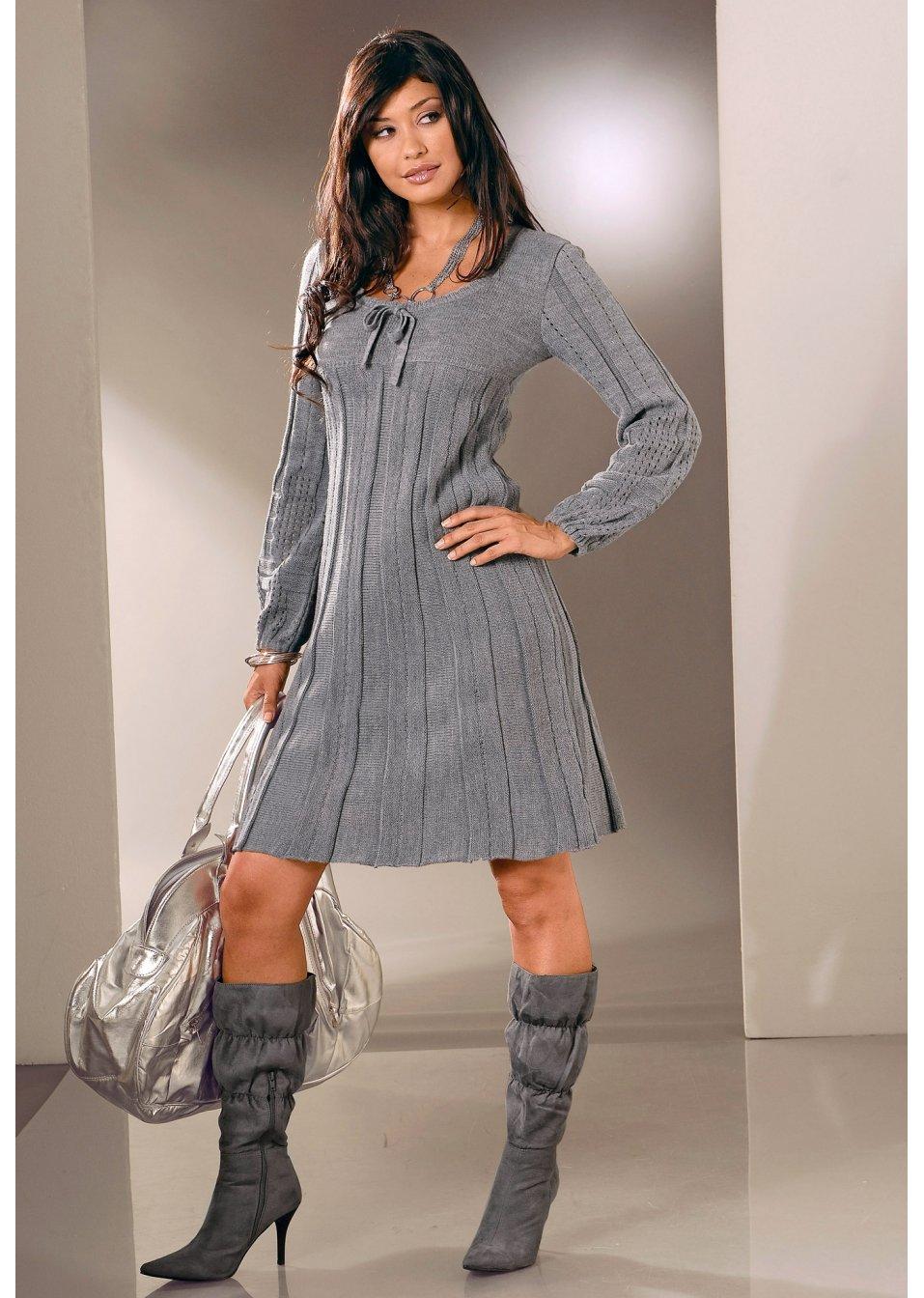 b7ecff81ca9626 Gebreide jurk karmijnrood - BODYFLIRT bestel online - bonprix-fl.be