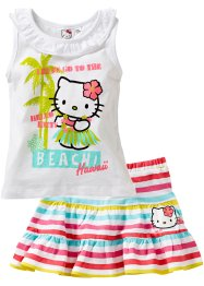 Top+rok (2-dlg. set), Hello Kitty, wit gestreept Hello Kitty