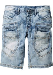 Jeansbermuda LOOSE, RAINBOW, medium blue bleached used