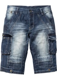 Jeansbermuda regular fit, RAINBOW, dark blue stone used