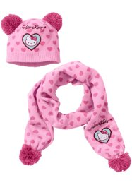 Muts+sjaal «HELLO KITTY» (2-dlg. set), Hello Kitty, roze/pink Hello Kitty