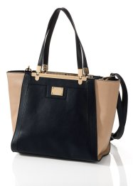 Handtas, bpc bonprix collection, zwart/nude