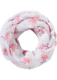 Tunnelsjaal «Flamingo», bpc bonprix collection, wit/roze